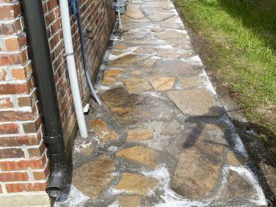 Flagstone Sidewalk